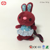 Easter New Fancy Blue Soft Plush Sitting Rabbit Animal Toy
