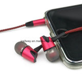 Icellway Branded Handsfree Stereo in Ear Corded Metal Earphone Chine Braided Cable Earphone
