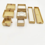 리본 활 (J65-E)를 가진 절묘한 Kraft 종이 선물 보석 종이상자