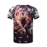 T-shirt d'hommes d'impression de sublimation du T-shirt 3D de polyester estampé par coutume