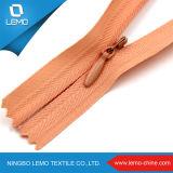 Zipper invisível tecido vestido da fita do laço
