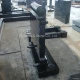 Lápides absolutos de granito preto com Kerbing no estilo europeu