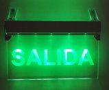 Выходите знак, аварийное освещение, знак аварийного выхода, свет выхода Salida