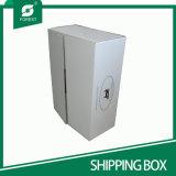 Logotipo de encargo blanca plegable Rsc corrugado caja de envío