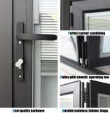 Portello di alluminio della stoffa per tendine di formato personalizzato doppio vetro