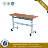 Estudante barata mesa e cadeira de madeira metal dobra mobiliário escolar (HX-5D141)