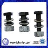Goujon/boulon et noix de noir personnalisés par usine d'acier du carbone