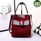 Zak Emg4852 van de Totalisator van de Vrouwen van het Leer van het Merk van de Handtassen van de Ontwerper van de Botsing van de kleur Trendy