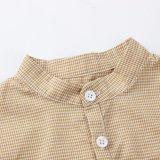 Camisas da verificação dos meninos da roupa dos miúdos para a mola/outono