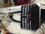 Sacchetto della tela di canapa del nero 12oz di qualità superiore con rivestimento e la chiusura lampo
