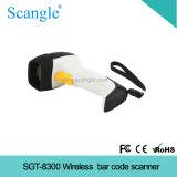 Scanner de código de barras laser sem fio, varredura a laser com código de barras sem fio portátil