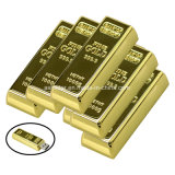 Mini disque imperméable à l'eau de flash USB de barre d'or d'USB Pendrive