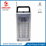 Portable recarregável Hi FM Speaker LED Emergency Light