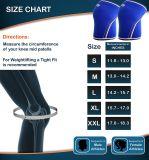 Aprire la parentesi graffa di ginocchio registrabile provvista di cardini sport del neoprene dei fori e contributo/neoprene Premium dei manicotti del ginocchio (accoppiamenti) 7mm - compressione & supportano al Weightlifting