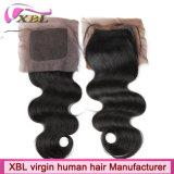 Пачки волос девственницы совершенной спички бразильские с закрытием шнурка