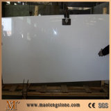 Microliteの純粋で白い大理石のNano結晶させたガラスパネル
