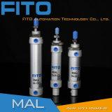 Тза мини-алюминиевых 100% тестирование ISO стандартного пневматического цилиндра