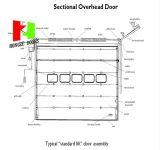 Sicherheits-automatische industrielle obenliegende Schnittaluminiumgarage-Tür