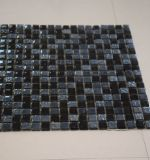 正方形の形の樹脂の組合せの黒のクリスタルグラスのモザイク装飾的な壁のタイル