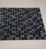 Cuadrado forma resina mezcla negro cristal mosaico de vidrio decorativo de pared de azulejos