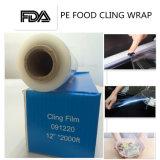 Sans BPA de grade alimentaire PE du film étirable pour les aliments enrouler avec le curseur de la faucheuse