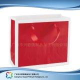 Saco de portador de empacotamento impresso do papel para a roupa do presente da compra (XC-bgg-036)