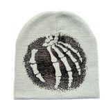Chapéu barato do Beanie do crânio da impressão (JRK056)