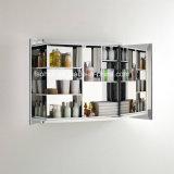 Gabinete de banheiro do aço inoxidável com espelho de lustro 7062