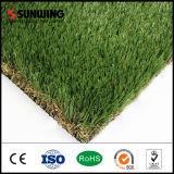 Alfombra artificial de la hierba de los precios del PPE del jardín barato del material 50m m