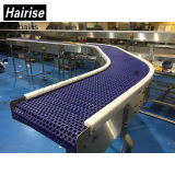 90 Grad, der modularer Plastik gebogenen Bandförderer mit ISO dreht