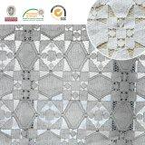 2017 diseños hermosos del modelo de la tela del cordón y más nuevos de nylon florales Ln10038
