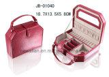 Коробка Ювелирных Изделий Классицистической Формы Конструкции Овальной Красная Кожаный