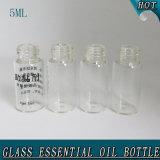 5 ml de bouteille d'huile essentielle de verre à faible teneur en cylindre