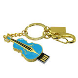 Clé de mémoire USB imperméable à l'eau de bijou de mini de guitare disque de flash USB