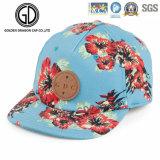 100%Cotton chapeau de Snapback ajusté par broderie neuve de panneau du rouge 6