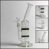 """Tubos de cristal de las plataformas petroleras rectas del tubo del vidrio 10 de Hfy """" para fumar del panal del tornado de los tubos de agua de 14m m"""