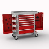 Gabinete de rolo de gaveta de 6 polegadas 7; Gabinete de ferramentas