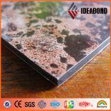 Panel de revestimiento de aluminio del panel de la mirada de la simulación de la puerta de Ideabond Office (AE-501)