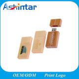 Dispositivo de memória USB Flash Drive USB Customed Disk Drive USB de madeira