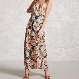 Платье повязки сексуальной тонкой V-Шеи женщин способа шифоновое напечатанное Backless