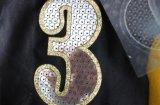 Escritura de la etiqueta del traspaso térmico del corte del laser del número para la camiseta