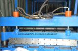 управление с помощью ПЛК 0,3-0.6мм толщины стального цвета панели крыши роликогибочная машина