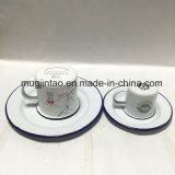 Ustensiles de cuisine Enamel Cup Enamel Saucer Vaisselle Set Dish Plate