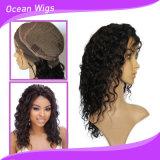 Peluca llena del cordón del color natural del pelo humano del 100%