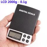 LCD 2000g - 0.1g Digital Pocket Schuppen-Schmucksache-Gewicht-elektronische Schuppe