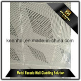 Revêtement perforé en aluminium décoratif de mur rideau de feuillard