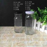 高品質250mlの正方形の形販売のためのガラスジュースのミルクびん