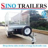 De dubbele Tippende Aanhangwagen van het Landbouwbedrijf van de As Hydraulische met Redelijke Prijs
