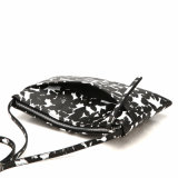 Sac à main Designer Black and White Floral Lady Crossbody (MBNO040074)