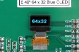 """0.49 """" 스크린 MP3 선수를 위한 64*32 백색 색깔 OLED 전시 14pins"""